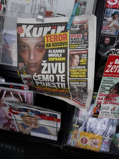 """""""Terror im Kosovo; Albaner misshandeln Serbin"""""""